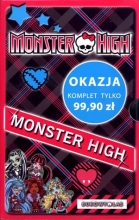 Monster High. Komplet 4 powieści + notes
