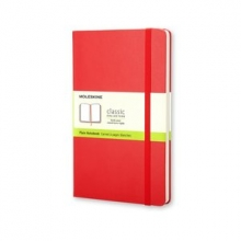 Moleskine Classic Red Pocket Plain Notebook